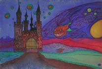 Fairytale 7, pastels on paper by Filip Finger