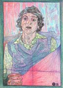 Selfportrait 4, pastel drawing on paper by Filip Finger